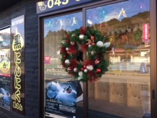 店のクリスマス装飾の写真